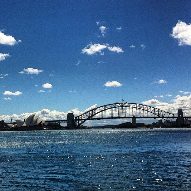 Sunny Sydney from the water