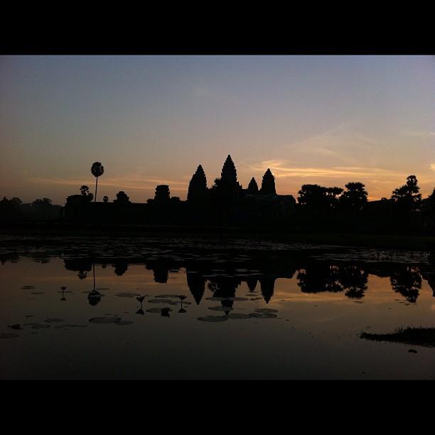 Angkor Wat sunrise #nofilter