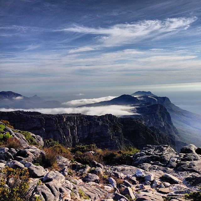 Table Mountain view complete with tablecloth clouds #capetown